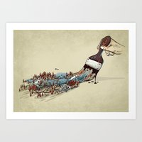 Nature Brush Art Print