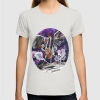Three-headed Evil Bird G… Womens Fitted Tee Silver SMALL