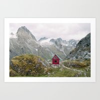 Mint Hut Art Print