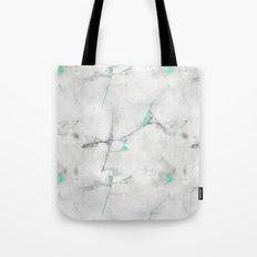 Green Cracked Design Tote Bag