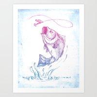 Bass Jumping1 Art Print