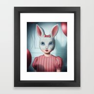 Framed Art Print featuring The Lonely Party by Luz Tapia Art