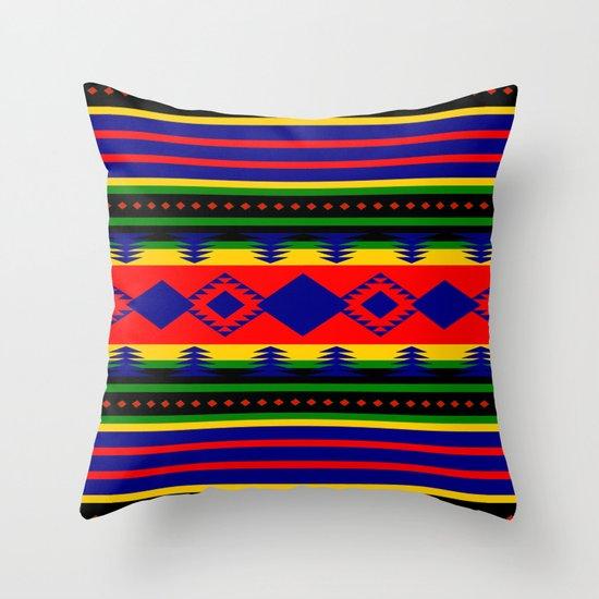 Aztec Summer Throw Pillow