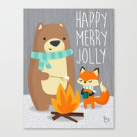 Happy Merry Jolly Canvas Print