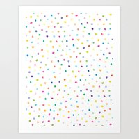 Rainbow Polka Dot Art Print