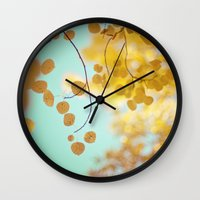 Nature's Gold Wall Clock
