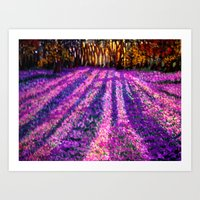 Purple Garden Art Print