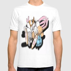Rabbits SMALL White Mens Fitted Tee