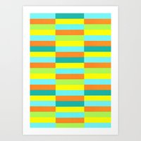 Eccentric Tiles Art Print