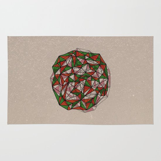- red orange green - Area & Throw Rug