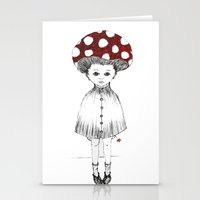 Mushroom Girl Stationery Cards