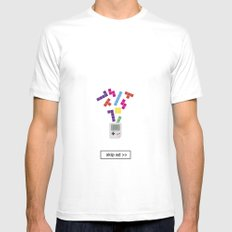 game ad SMALL Mens Fitted Tee White