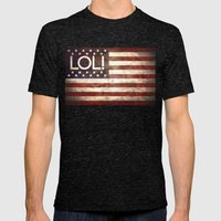 Star spangled LOL Mens Fitted Tee Tri-Black SMALL
