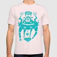 Triangle Head I Mens Fitted Tee Light Pink SMALL