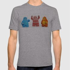 Yeti Attack Mens Fitted Tee Athletic Grey SMALL