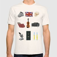 221B Baker Street Mens Fitted Tee Natural SMALL