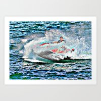 Jet Ski Art Print