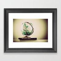 All Around the World  Framed Art Print