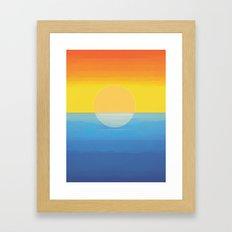 Sunset - Every Time We Say Goodbye Framed Art Print