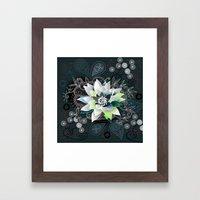 Dark Blue And Black Zent… Framed Art Print
