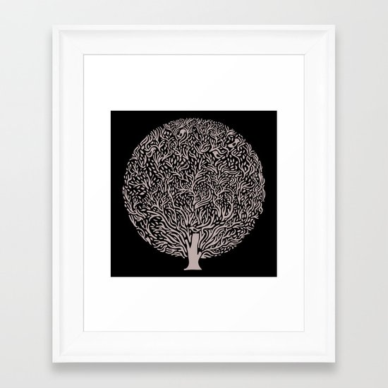 Black and White Tree Framed Art Print