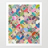 Betty's Diamond Quilt Art Print