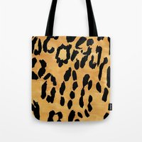 Yellow Leopard Print Tote Bag