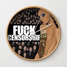 Fuck Censorship Wall Clock
