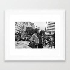 clasped Framed Art Print