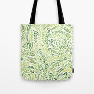 Tote Bag featuring Leaf Pattern 2 by Joy Paton