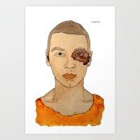 Bruised Thug Art Print