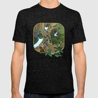 Pigeons, Parakeets And F… Mens Fitted Tee Tri-Black SMALL