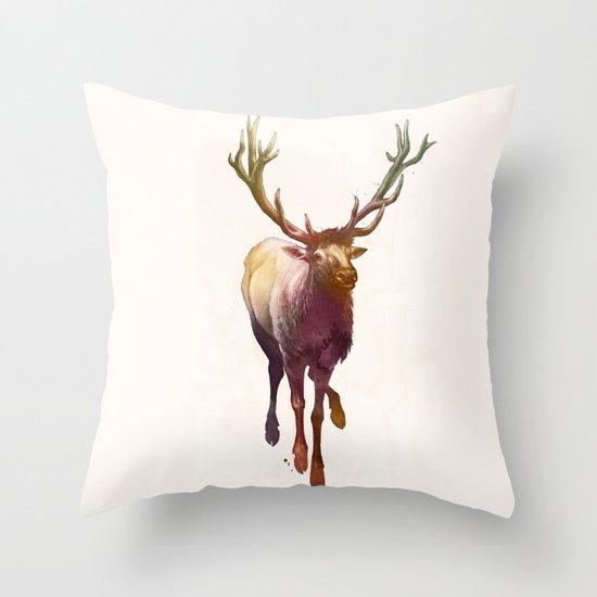 Elkish Throw Pillow