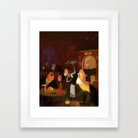 Half past 9 Framed Art Print
