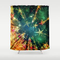 Christmas Flight Shower Curtain
