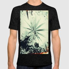 Abstract Urban Garden Mens Fitted Tee Tri-Black SMALL