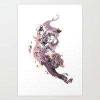 Luckless (Lavender) Art Print