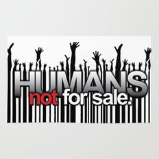 Humans Not For Sale Rug