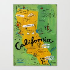 Postcard from California Canvas Print