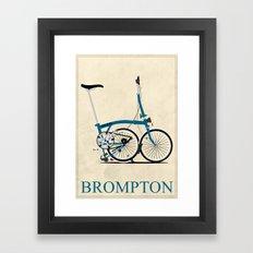 Brompton Bike Framed Art Print