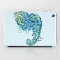 iPad Case featuring Elephant Portrait by Rachel Caldwell