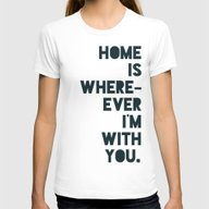 Home Is With You Womens Fitted Tee White SMALL