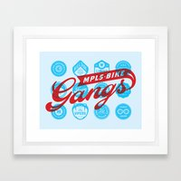 Minneapolis Bike Gangs Framed Art Print