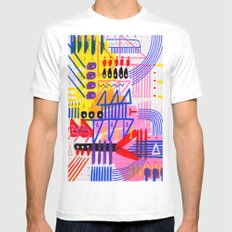 Sinfonia das Cores 1 Mens Fitted Tee SMALL White
