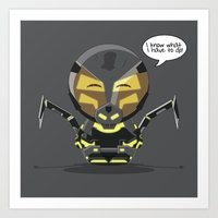 ChibizPop: I know what I have to do! Art Print