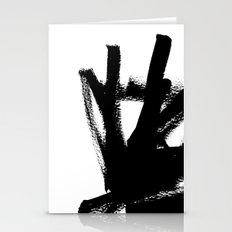 Abstract black & white 1 Stationery Cards