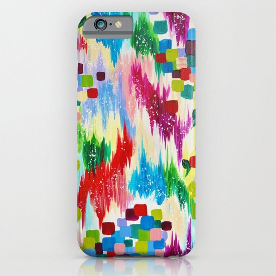 'TIS THE SEASON - Cheerful Christmas Seasonal Holidays Abstract Acrylic Painting Chevron Snow  iPhone & iPod Case