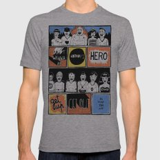 Superheroes SF Mens Fitted Tee Athletic Grey SMALL