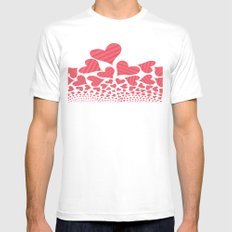 Bursting Hearts Mens Fitted Tee White SMALL