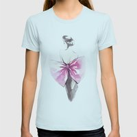 Elegance Womens Fitted Tee Light Blue SMALL